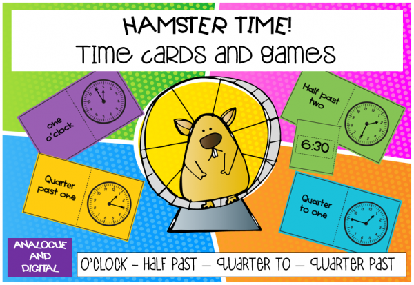 Hamster Time Time cards and games by Mrs Scott-Myles