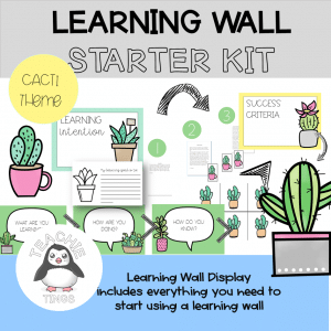 learning wall cacti theme