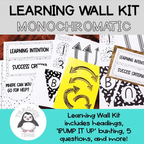 learning wall monochromatic