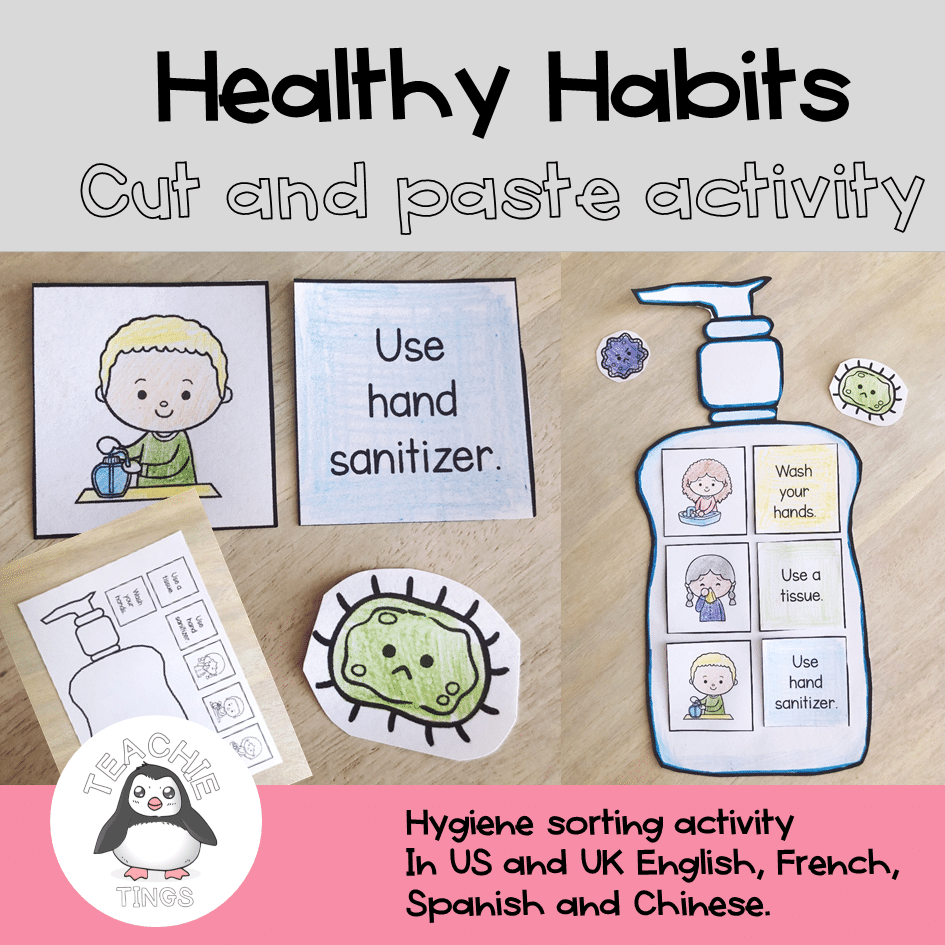 Healthy Habits Cut and Paste Activity