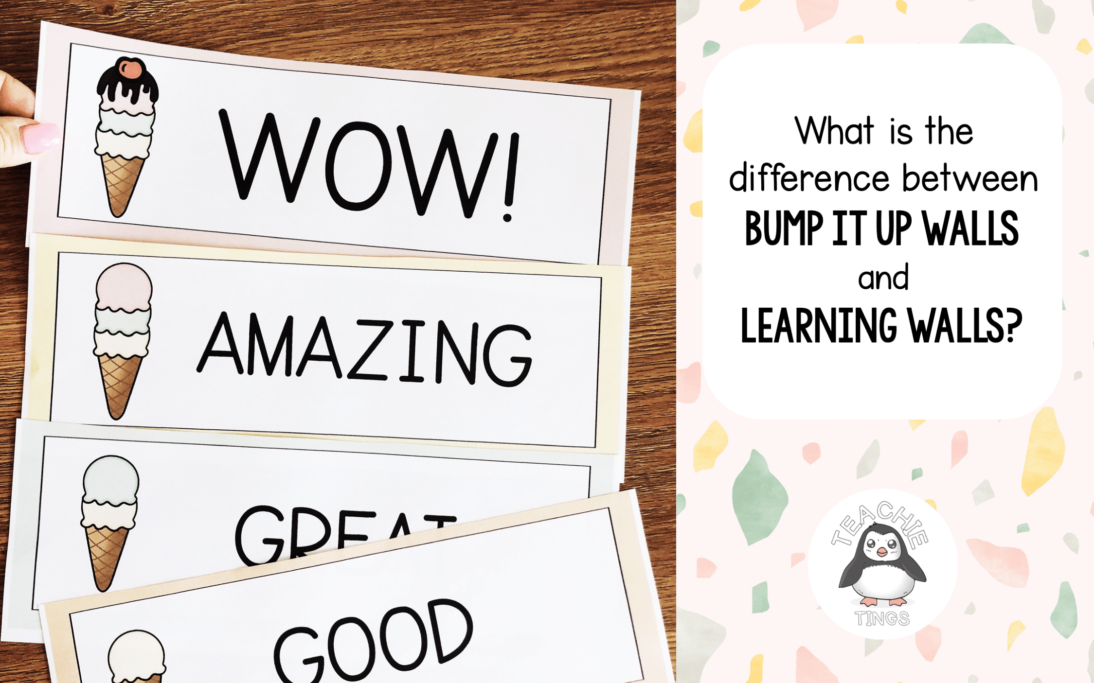 what is the difference between bump it up walls and learning walls?