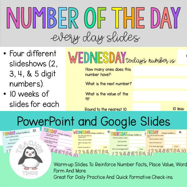 Number of the Day Digital slides