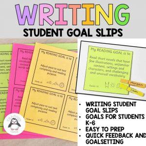 writing goal slips