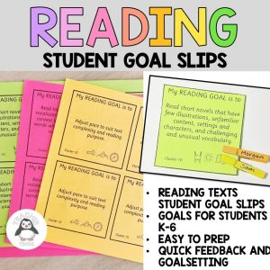 reading goal slips