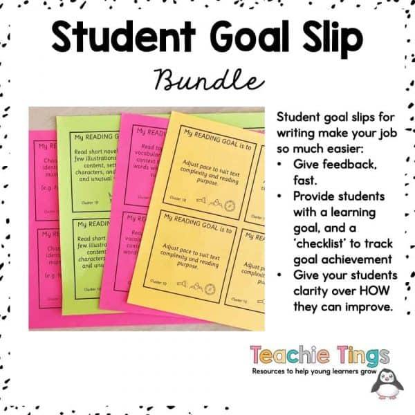 student goal slips