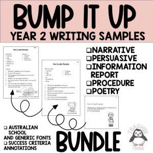 bump it up wall writing samples