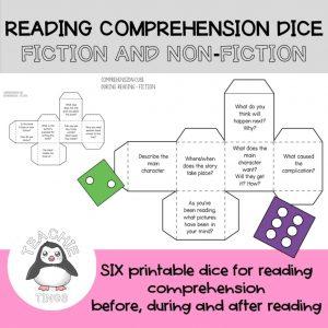 reading comprehension dice