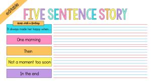 five sentence story