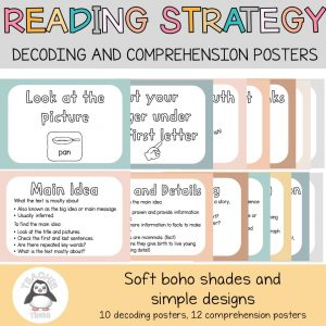 Reading Comprehension Posters - Decoding and Comprehension Strategies