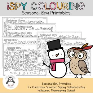iSpy colouring pages