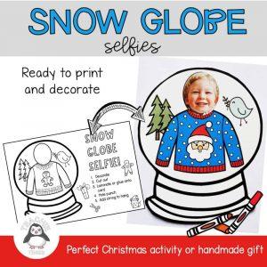 snoe globe selfie christmas activity