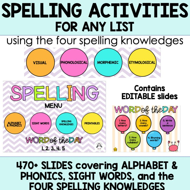 four spelling knowledges