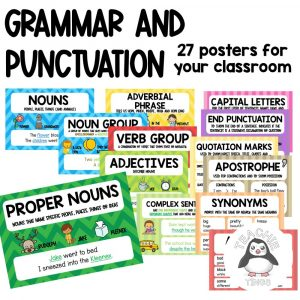 grammar and punctuation posters