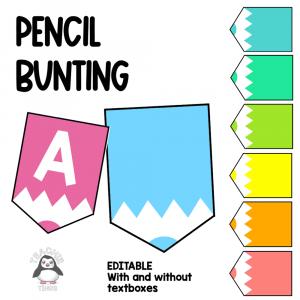 Pencil Bunting