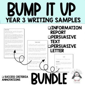 Year 3 bump it up wall writing sample bundle