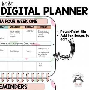 digital teacher planner