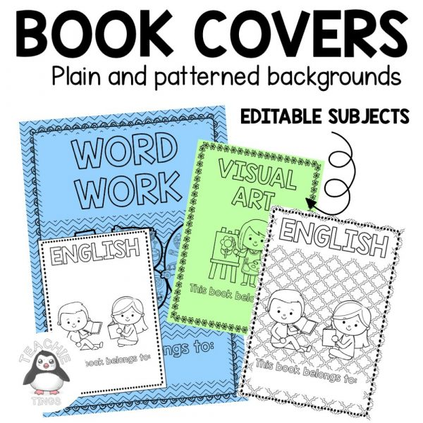 book covers editable