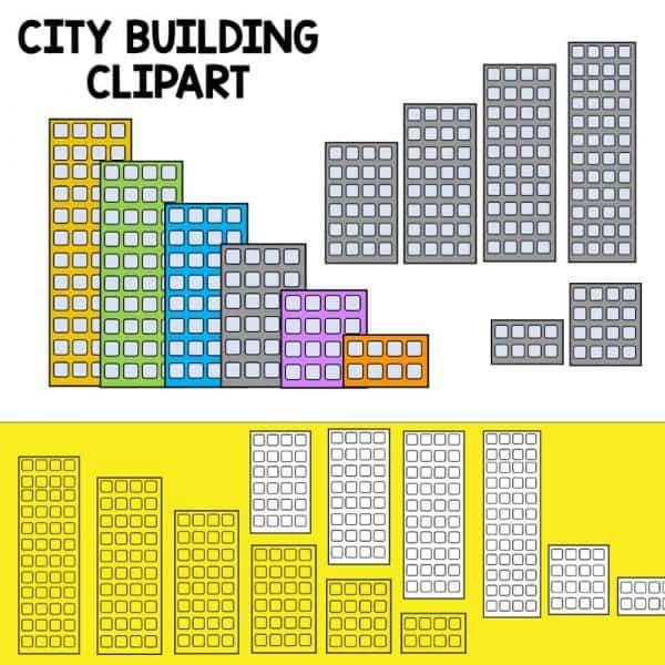 city building clipart