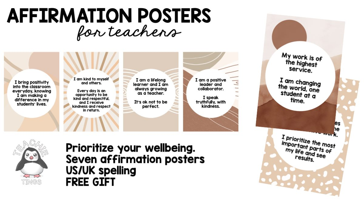 affirmation posters for teachers