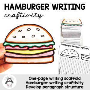 hamburger writing template